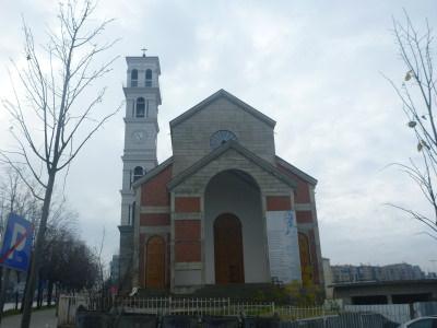 Mother Teresa Church in Pristina, Kosovo.