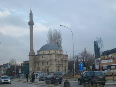 Mosques in Pristina, Kosovo.