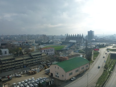 View over Pristina from Moving Restaurant.