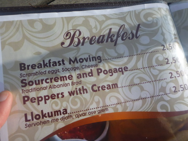 Sourcream and Pogaqe was ordered.