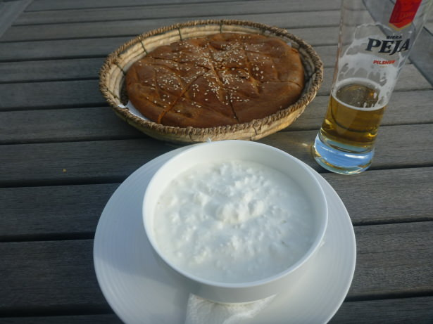 Friday's Featured Food: Pogaqe and Sour Cream in Pristina, Kosovo