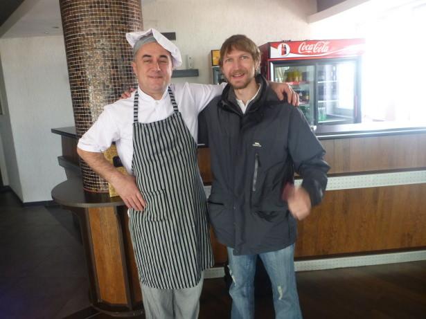 With Barshkin the chef.