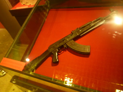 Weapons in the Kosovo museum.