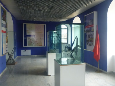 Inside the Kosovo Museum.