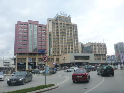 Downtown Pristina, Kosovo.