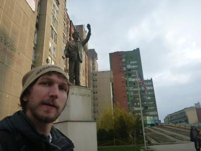 Bill Clinton Statue, Pristina, Kosovo.