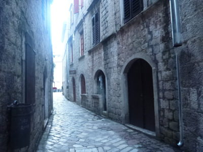 In the heart of the Old Town in Kotor, Montenegro.