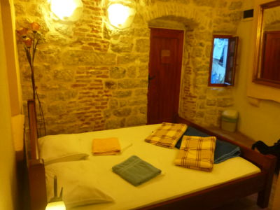 Staying at the Old Town Hostel, Kotor, Montenegro.