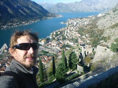Enjoying the magical views over Kotor in Montenegro.