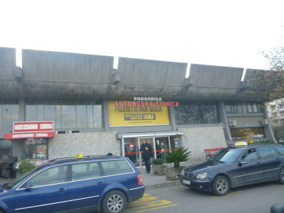 Main bus station in Podgorica, Montenegro.