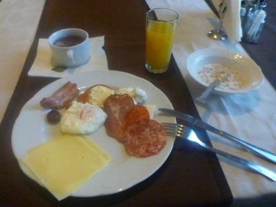 Great breakfast at Hotel Keto, Podgorica, Montenegro.