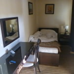 Staying at the comfy Hotel Keto in Podgorica, Montenegro.