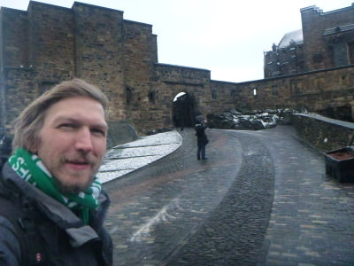 Touring the famous Edinburgh Castle.