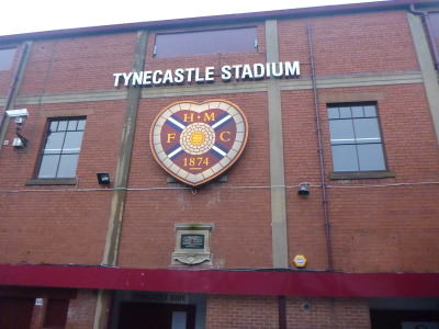 Tynecastle Stadium, home of Hearts.