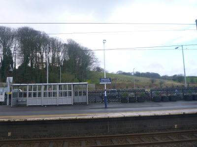 Arrival in England at Alnmouth train station.