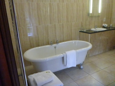 The bathroom in my Alnwick Castle Room.