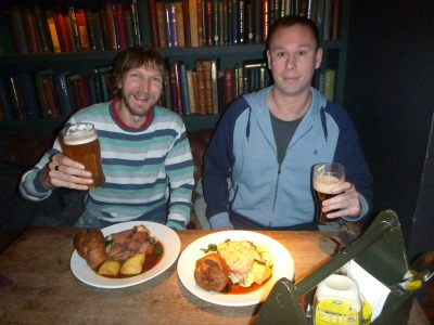 Paddy and I enjoying our pints, meals and catch up.