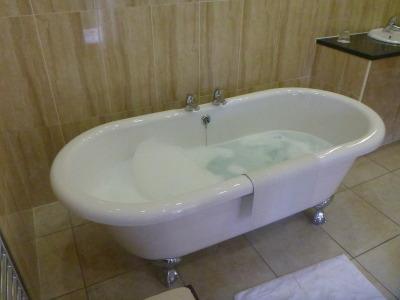 Hot bubble bath.
