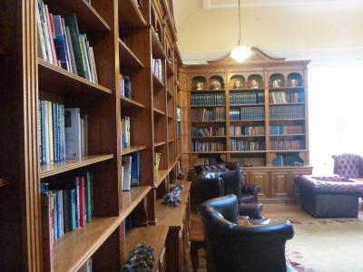 The library at Doxford Hall.