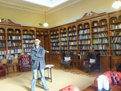 Loving the library in the Doxford Hall Hotel and Spa.