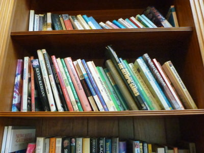 Books in the Library.