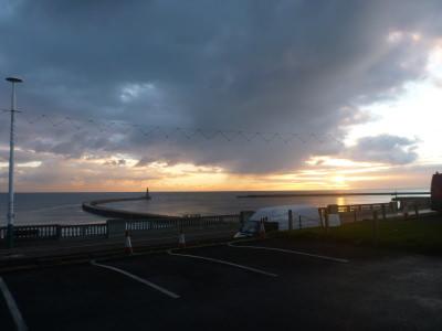 Sunderland Pier and Roker Beach, England.