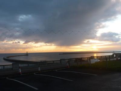 Sunrise from my room in Sunderland.