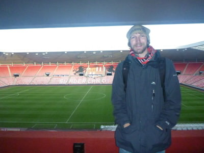 Touring the Stadium of Light in Sunderland, England.