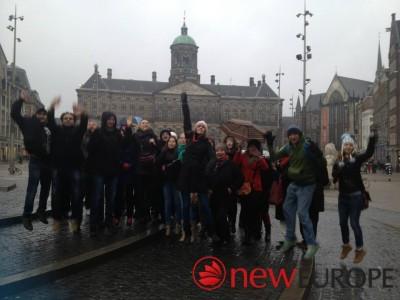 My walking tour in Amsterdam.