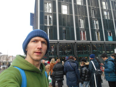 Backpacking in Amsterdam - at Anne Frank's House.