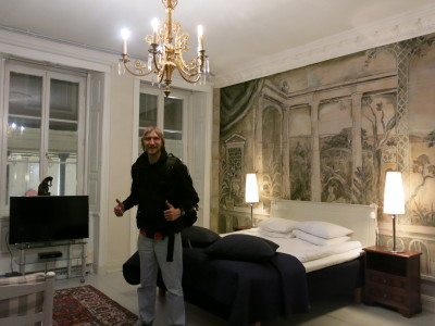 Our room at the Lady Hamilton Hotel in Stockholm, Sweden