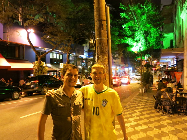 A night out with Rodrigo in Sao Paulo.