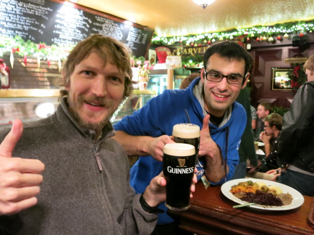 Guinness with Martin in Dublin.
