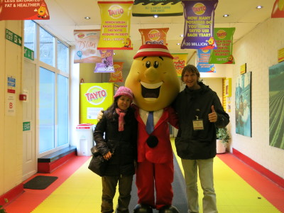 Panny and I meet My. Pat Tayto himself.
