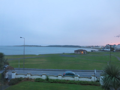 View over Ballyholme Beach from our room.