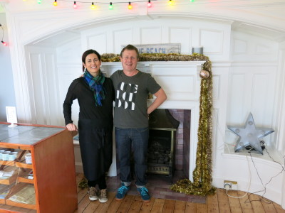 Jenny and Chris - the wonderfully welcoming owners of the Cairn Bay Lodge in Bangor, Northern Ireland.