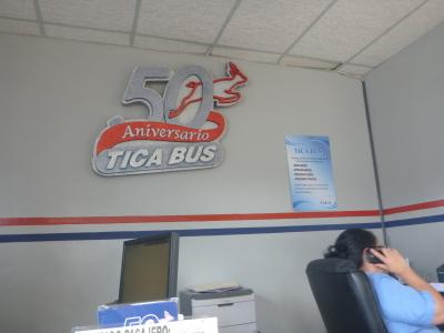 Tica Bus Terminal in Tegucigalpa.