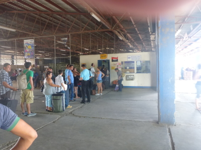 Bag check in Nicaragua - took about 40 minutes.