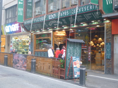 Friday's Featured Food: Sausages and Beans in Bar 120, Escaldes Engordany, Andorra
