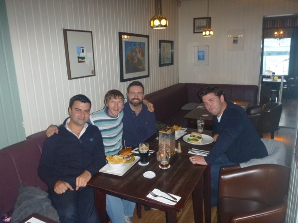 With Ryan Smith, Scott Callen and Dougie Gordon in Bangor, Northern Ireland.