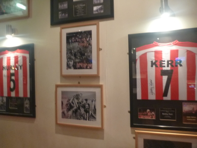 Pub with Sunderland shirts