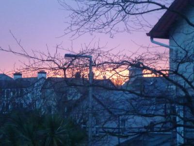 Sunrise in Ballyholme, Bangor.