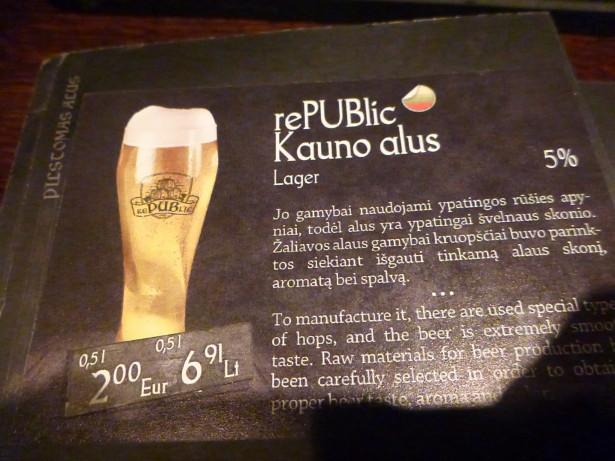 Kauno Alus in Republic.