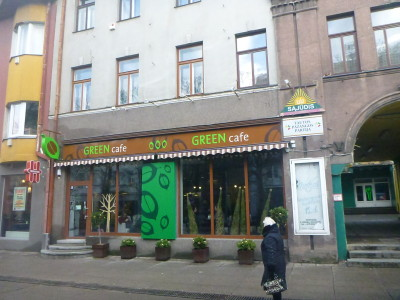 You get discount off coffee in Green Cafe.
