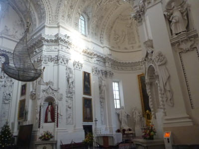 Inside St. Peter and Paul's Cathedral.