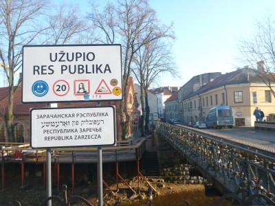 I recommend using this bridge to cross into Uzupis - Uzupio Undinele