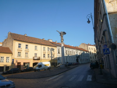 Central Uzupis - the Angel Statue