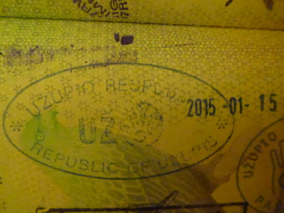 Uzupis passport stamp