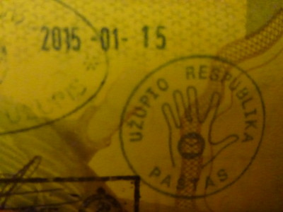 passport stamp uzupis republic