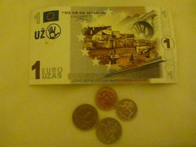 Uzas - Uzupis mock Euros!